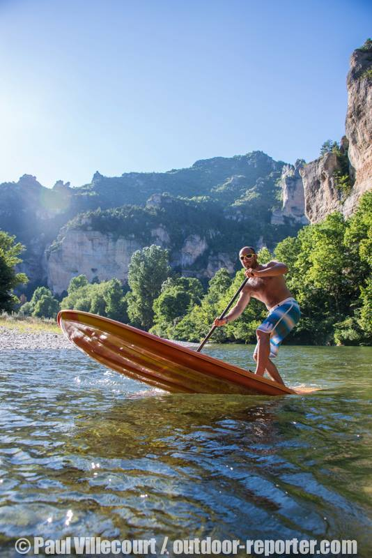 stand up paddle lozere nature canyonning speleo gorges du tarn