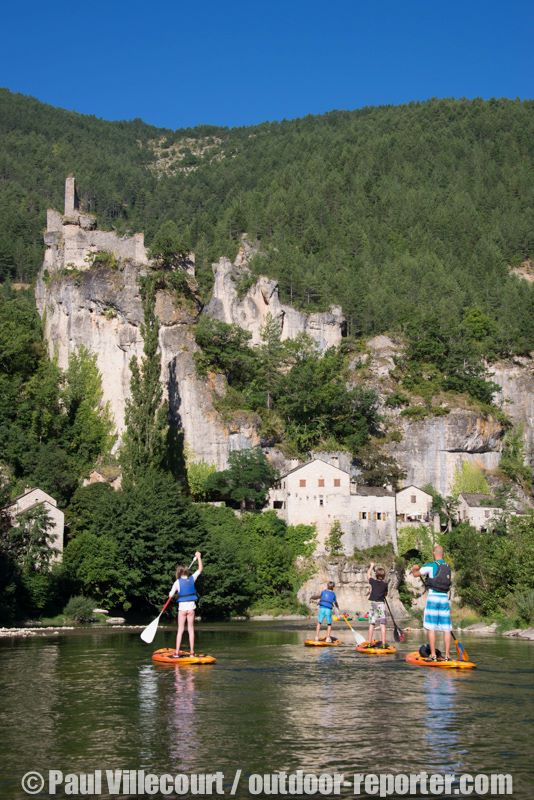 stand up paddle lozere nature speleovia ferrata gorges du tarn